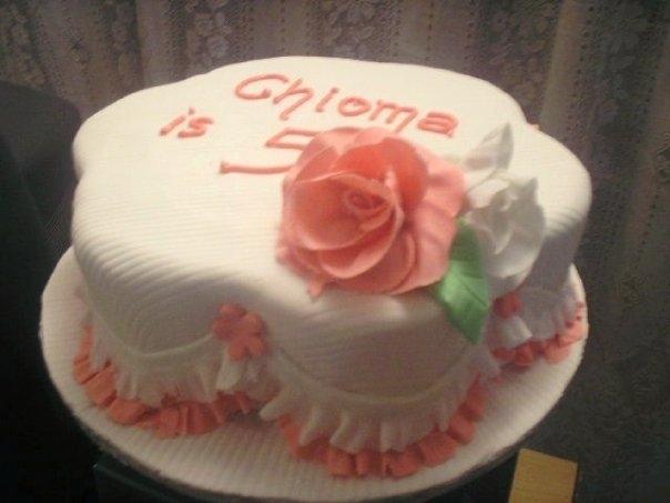 Petal Shape cake 2(B107)